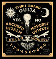 ouija board with crow skull occultism set vector image vector image