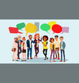 people group chat business people vector image vector image