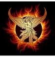 Phoenix in Flame vector image vector image