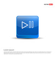 play pause icon - 3d blue button vector image