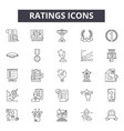 ratings line icons signs set outline vector image vector image
