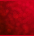 red bokeh for christmas and valentine day vector image