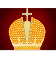 royal gold crown vector image vector image