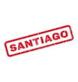 Santiago Rubber Stamp vector image vector image