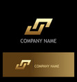 shape gold letter s square logo vector image vector image