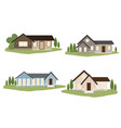 small tiny victorian or american country style vector image