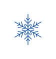 snowflake decor line icon concept snowflake decor vector image vector image