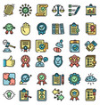 standard icons set flat vector image vector image
