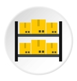 Storage of goods icon flat style vector image vector image