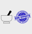 stroke mortar icon and scratched side vector image vector image