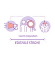 talent acquisition process concept icon vector image vector image