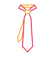 tie for men accessory fashion trendy vector image