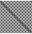 Triangle white and black seamless pattern vector image vector image