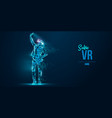 vr abstract silhouette virtual reality glasses vector image vector image