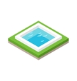 Water pool summer isometric fun concept 3d flat