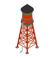 water tower isometric isolated water-bearing tower vector image vector image