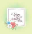 watercolor template for a birthday wedding vector image vector image