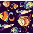 Ornamental fish marine print vector image