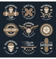 Skateboarding Emblems In Color vector image