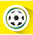 ball soccer olympic games brazilian flag colors vector image