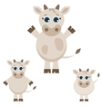 Set of cute cows vector image