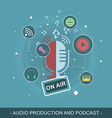 Audio production and podcast Editable flat design vector image vector image