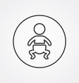 baby outline symbol dark on white background logo vector image vector image