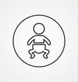 baby outline symbol dark on white background logo vector image