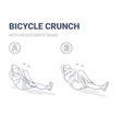bicycle crunch abs female home workout exercise