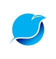 bird line swoosh circular symbol design vector image vector image