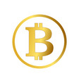 bitcoin icon cryptocurrency emblem web and vector image vector image