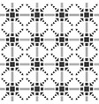 black and white seamless pattern aztec abstract vector image vector image