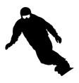 black silhouettes snowboarders on white background vector image