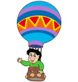 boy in balloon vector image