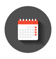 calendar agenda icon in flat style planner with vector image