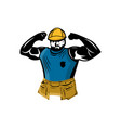 character design construction workers vector image