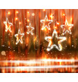 christmas background of de-focused lights with vector image vector image