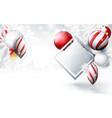 christmas balls with ornaments on bokeh background vector image vector image