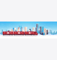 christmas train locomotive shipping transport for vector image