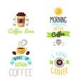 coffee badge food design hand drawn calligraphic vector image vector image