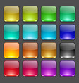 Colorful square glossy buttons vector image