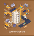 construction site concept vector image vector image