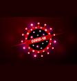 covid19-19 coronavirus neon glow light warning vector image