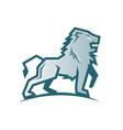 creative abstract silver lion logo vector image vector image