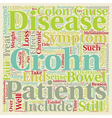Crohn s Disease Explained text background vector image vector image