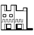 cube dog stencil vector image vector image