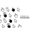 cursors click background vector image