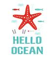 cute ocean cards vector image vector image