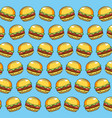 delicious hamburger fast food meal background vector image vector image