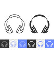 dj headphone simple black line icon vector image